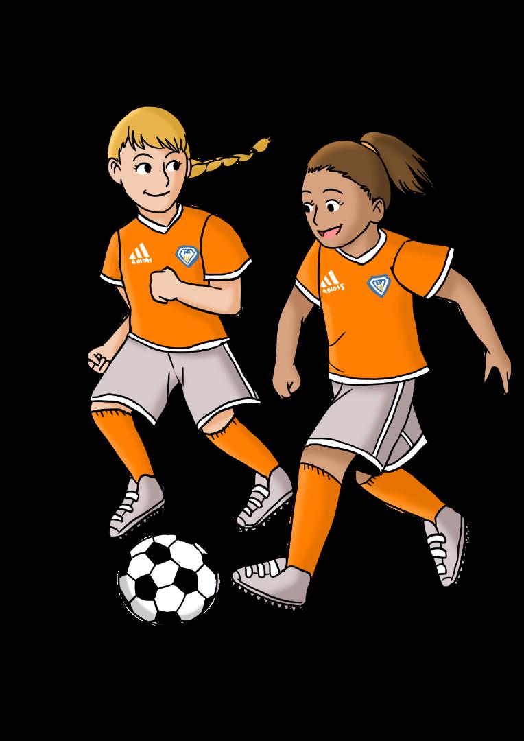 7- ja 8 vuotiaiden tyttöjen joukkue on potkaistu käyntiin.