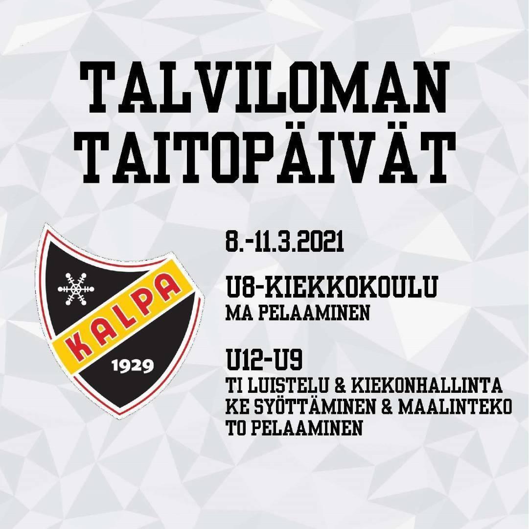 TALVILOMAN TAITOPÄIVÄT - ILMOITTAUDU MUKAAN!