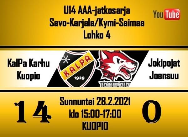 Jokipojat pysyi Karhun kyydissä ensimmäisen erän, Karhu avasi hunajapurkin Kuopiossa 14 - 0 !