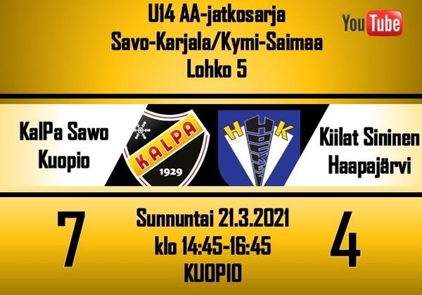 KalPa Sawon kevätlento sai jatkoa, Kiilat nurin kotona 7 - 4!