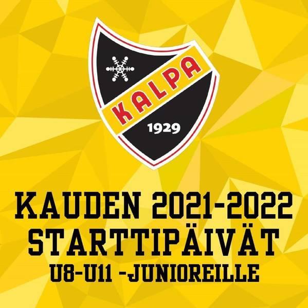 U8-U11 poikien kauden 2021-2022 starttipäivät - ILMOITTAUDU MUKAAN!
