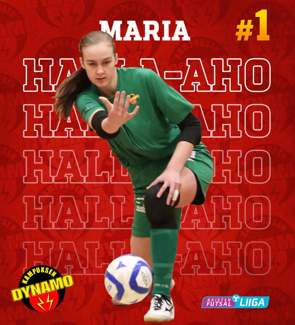 Maria Halla-aho varmistaa Dynamon maalin