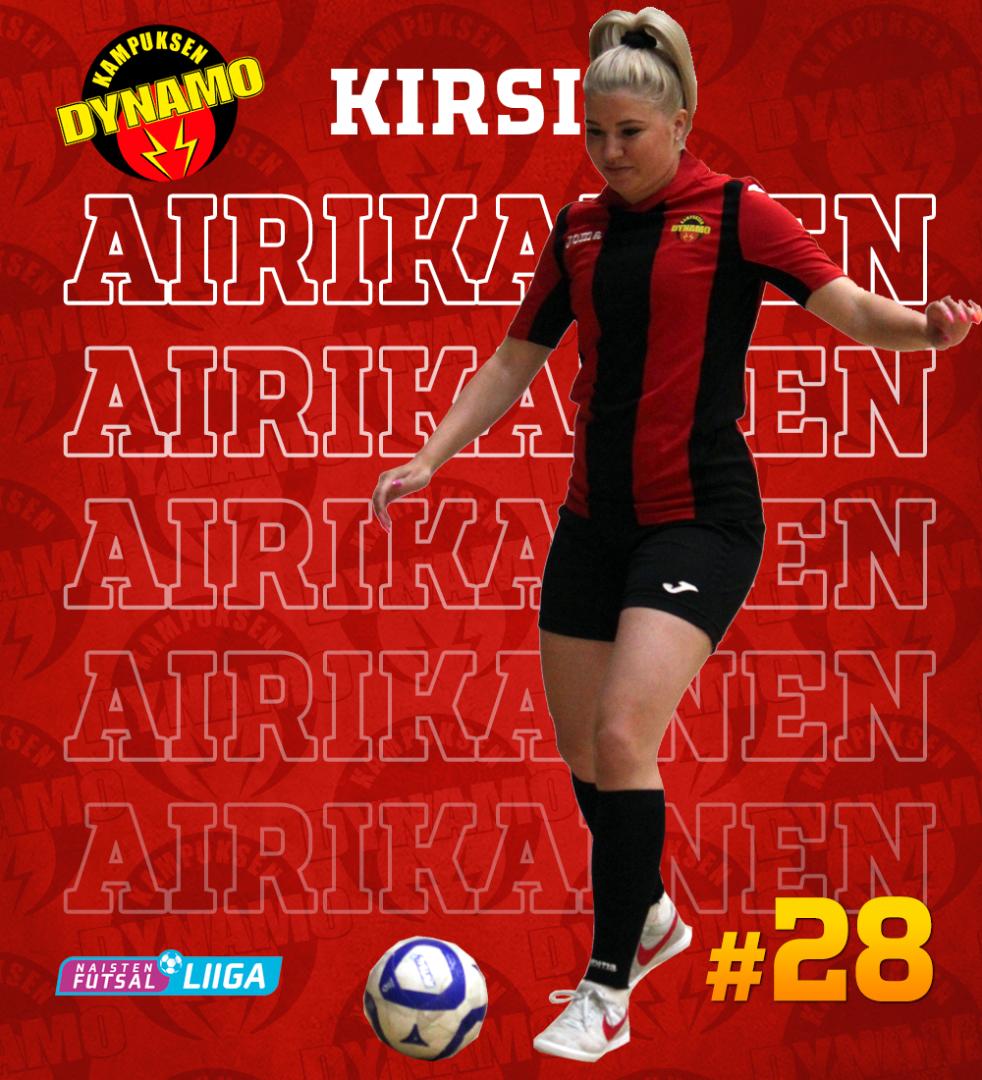 Kirsi Airikainen jatkaa kokemuksella Dynamossa
