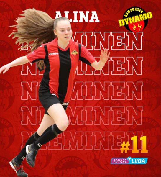 Alina Nieminen on tulevaisuuden futsallupauksia!