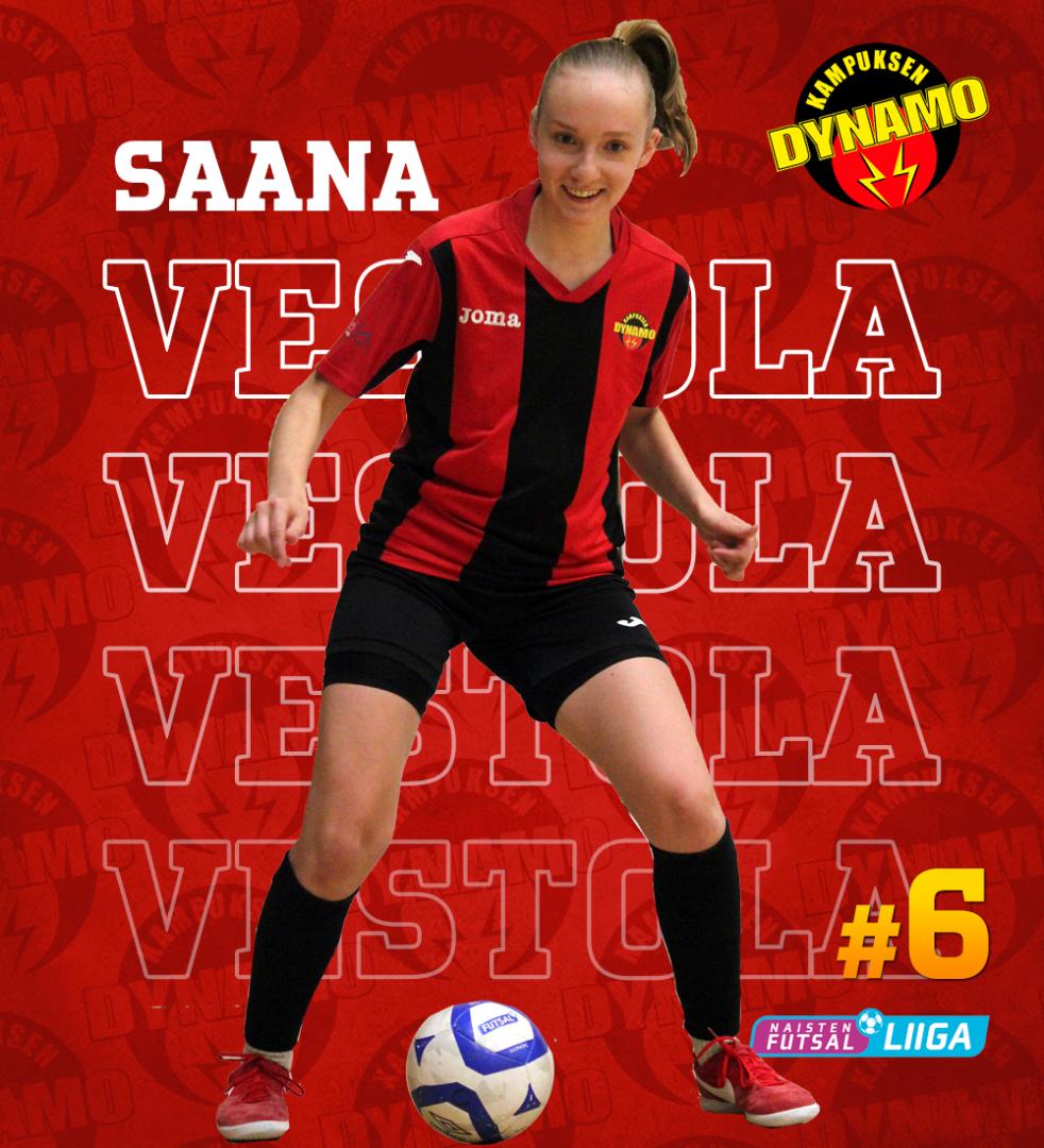 Saana Vestola on kasvanut futsalin parissa