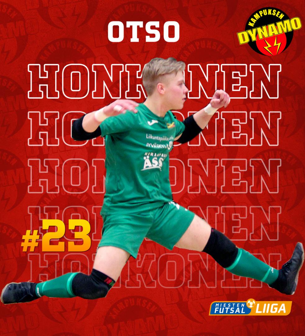 Nuorimmalla pelaajalla myös nimi paperissa, Otso Honkonen
