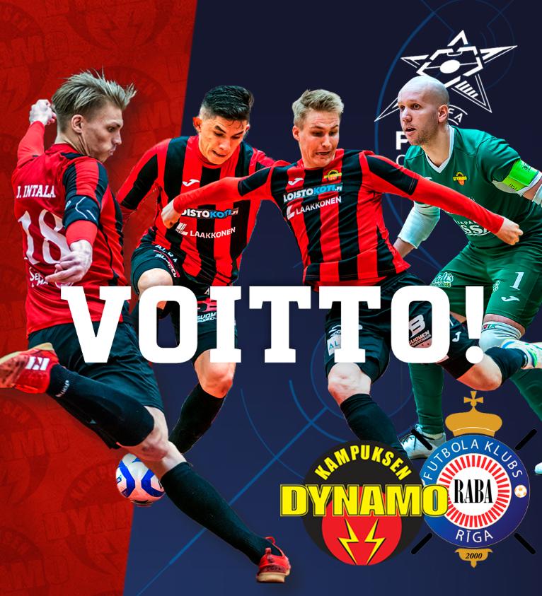 UEFA:n Futsalin Mestarien Liiga: Dynamo nollasi Latvian mestarit!