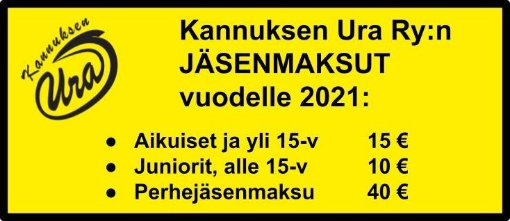 Kannuksen Uran jäsenmaksu 2021