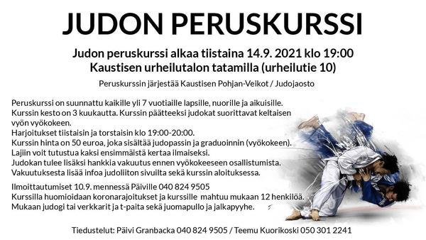 Judon peruskurssi alkaa 14.9