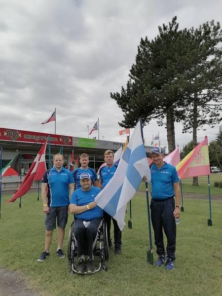 Para-ampujamme Juha Myllymäki MM-kisoissa saapasmaassa