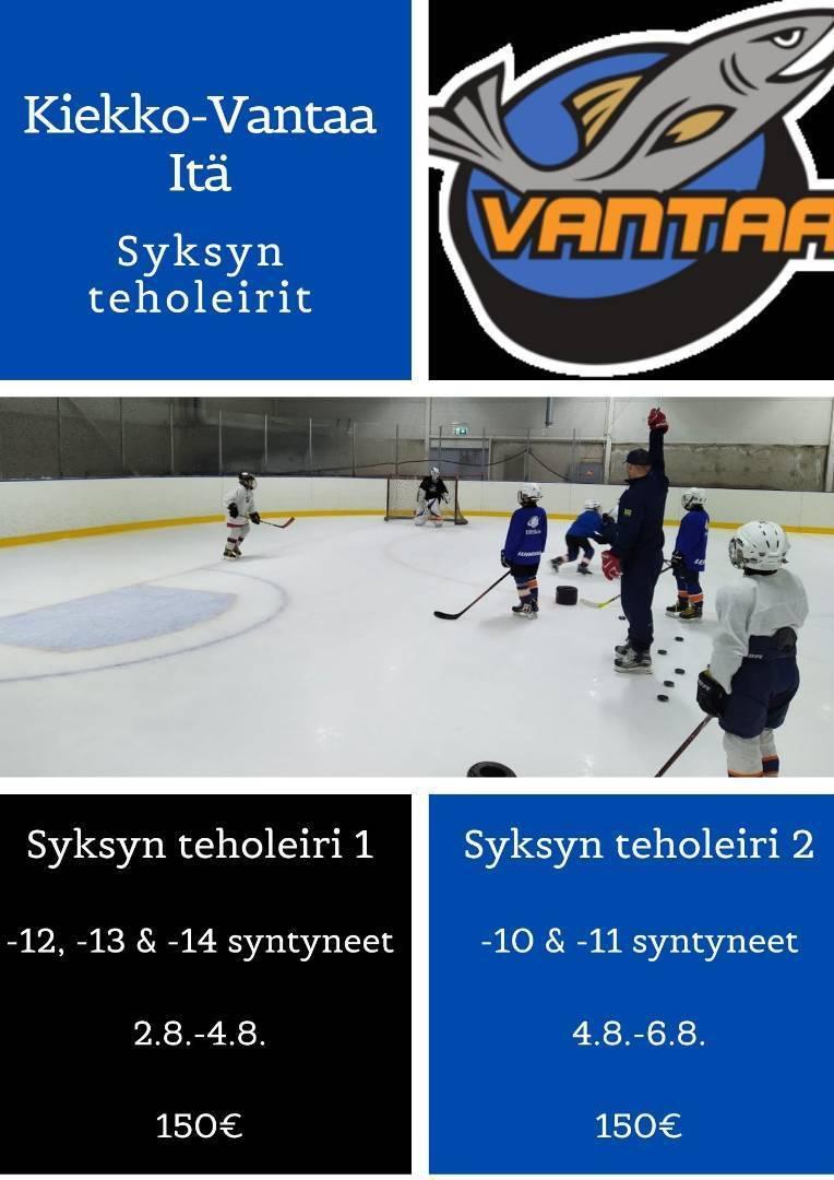 Kiekko-Vantaa Itä - Syksyn teholeirit ilmoittautuminen