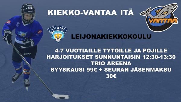 Ilmoittaudu mukaan Kiekko-Vantaa Idän Leijonakiekkokouluun
