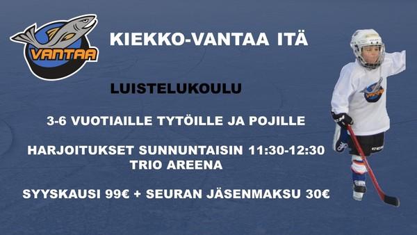 Ilmoittaudu mukaan Kiekko-Vantaa Idän Luistelukouluun!