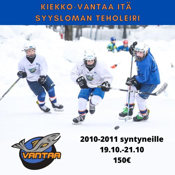 Kiekko-Vantaa Itä - Syysloman teholeiri U12 & U11 ikäluokille