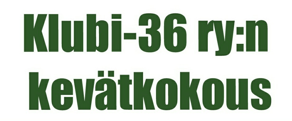 Klubi-36:n kevätkokous