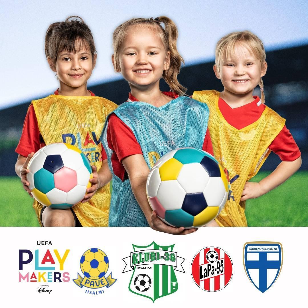 Yläsavolaiset seurat yhdessä mukaan UEFAn ja Disneyn kanssa kannustamaan tyttöjä jalkapallon pariin