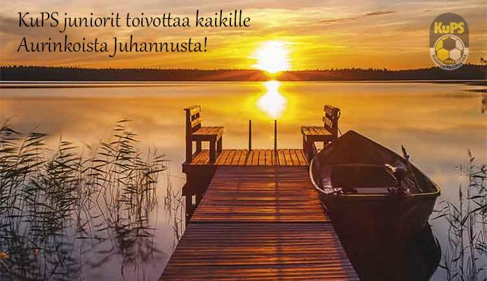 KuPS juniorit toivottaa kaikille Aurinkoista Juhannusta