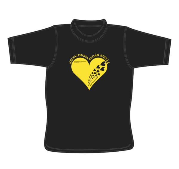 Keltamusta Sydän T-paita