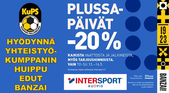 Kuopion Intersportissa plussapäivät, Banzai!