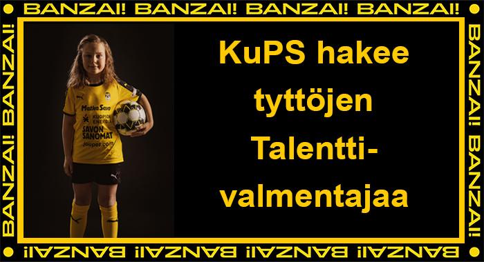 Kuopion Palloseura hakee tyttöjen nuorisovaiheen Talenttivalmentajaa.