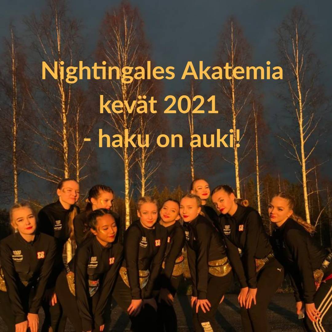 Nightingales Akatemia kevät 2021 haku on avoinna