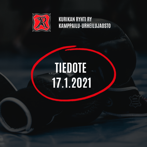 Kamppailu-urheilujaoston tiedote 17.1.2021