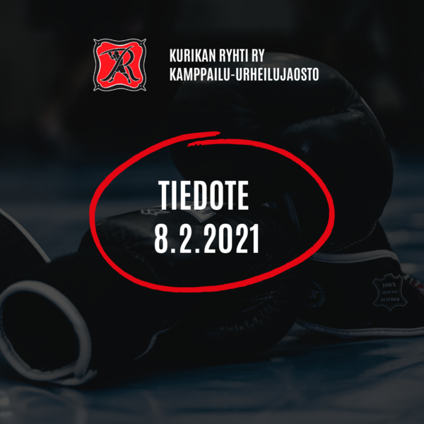 Kamppailu-urheilujaoston tiedote 8.2.2021