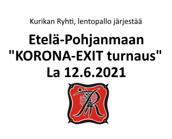 """Lentopallon """"KORONA-EXIT turnaus"""""""
