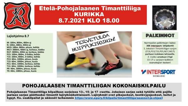 Etelä-Pohojalaanen Timanttiliiga 8.7.2021 Kurikka