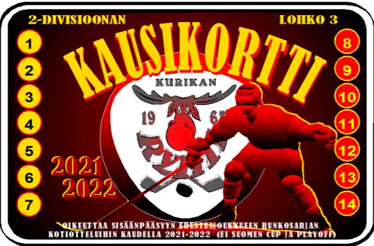 Edustusjoukkueen kausikortti 2021-22 ennakkomyynissä.
