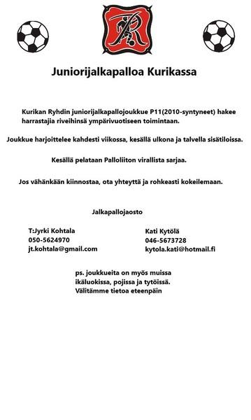 Juniorijalkapalloa Kurikassa