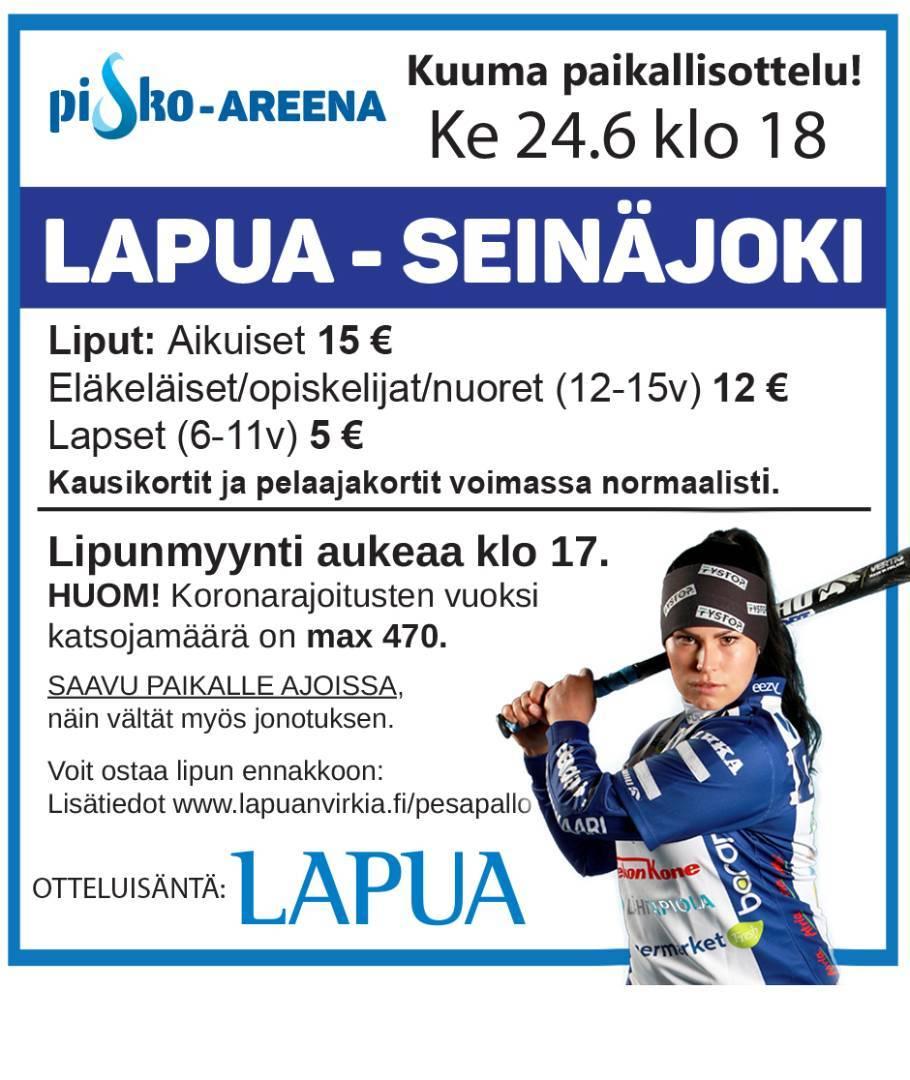 Ke 24.6. Klo 18 Virkiä - SMJ. Hanki lippusi ajoissa!