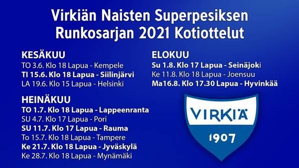 Virkiän kotipelit - Runkosarja 2021 Naisten Superpesis