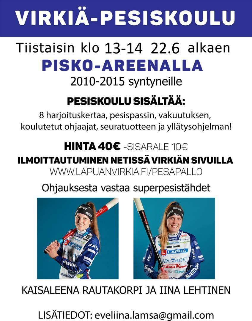 Virkiä-Pesiskoulu tulee taas! Ilmoittaudu mukaan!