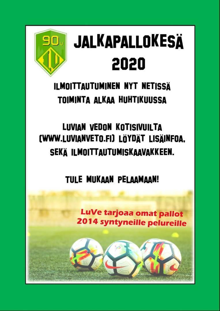 Jalkapallokesään 2020 ilmoittautuminen