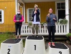Naisten kuntosarjan palkitut: Reetta Taimi, Solveif Staff ja Hanna Hannus