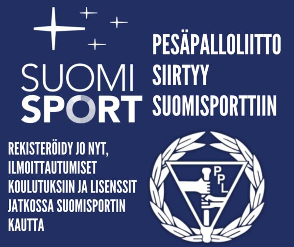 Pesäpalloliitto siirtyy suomisporttiin