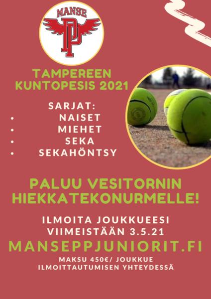 Tampereen kuntopesis palaa Vesitornin hiekkatekonurmelle!