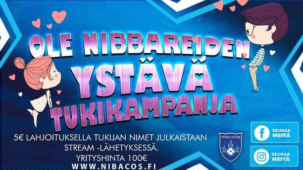 Ole Nibbareiden ystävä tukikampanja