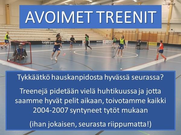 Tervetuloa treeneihimme!