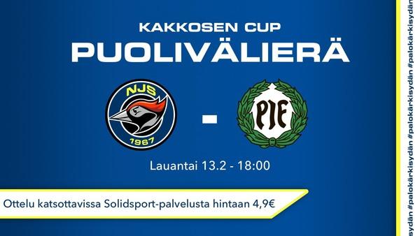 Otteluennakko NJS-PIF – Kakkosen Cup puolivälierä