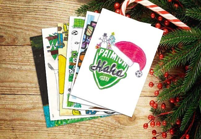 Hakan junioreiden piirtämät joulukortit myynnissä!