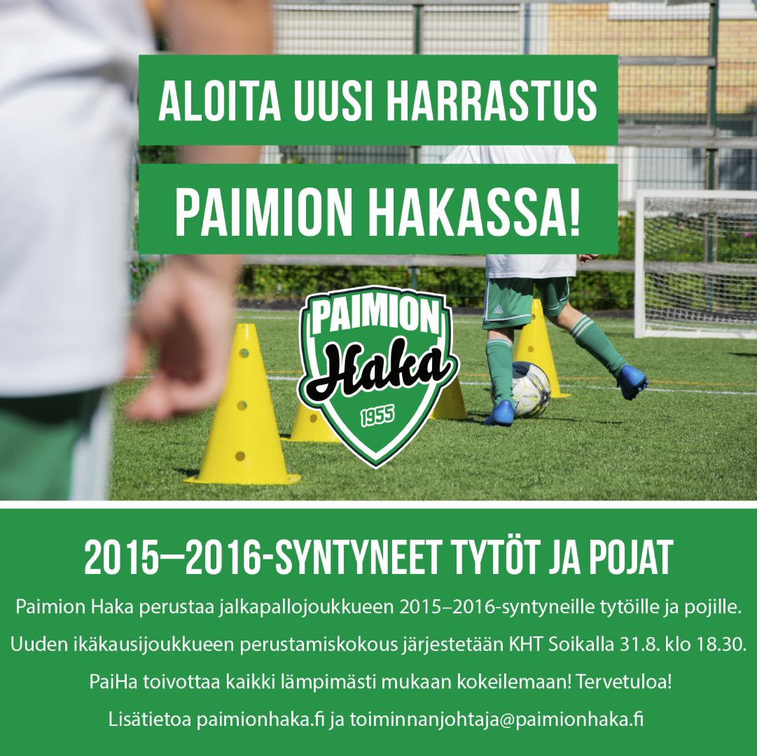 Uusi joukkue 2015–2016-syntyneille tytöille ja pojille!