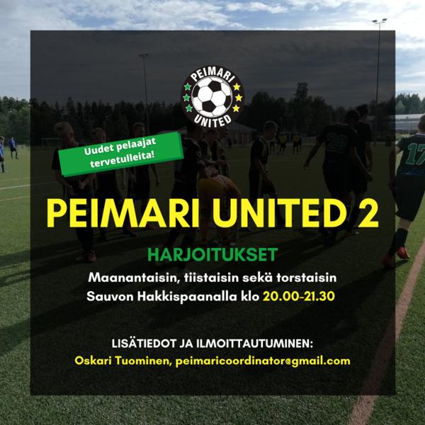Peimari United 2 etsii uusia pelaajia