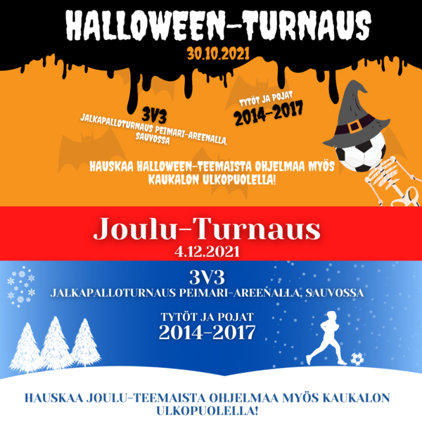 Peimarin Halloween- ja Joulu-Turnaus tulevat jälleen