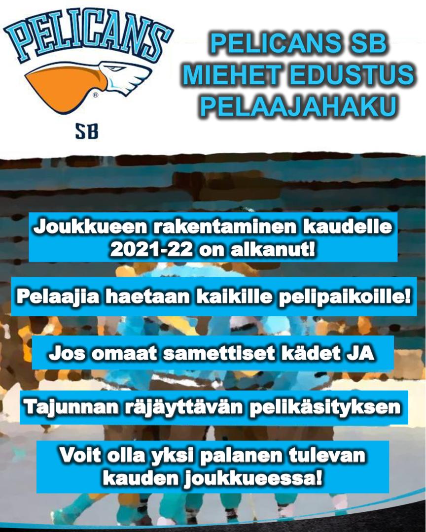 Pelicans SB Miehet Edustus pelaajahaku