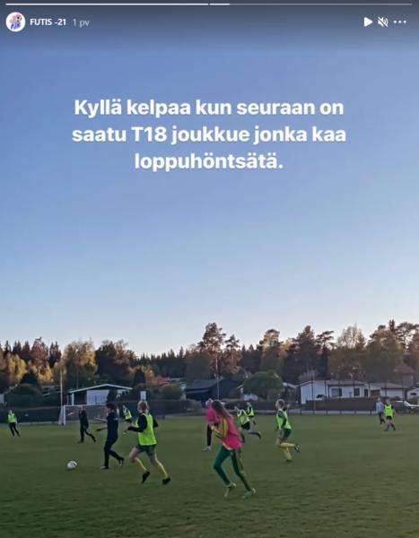 PJK Naiset ja T18 yhteistyö