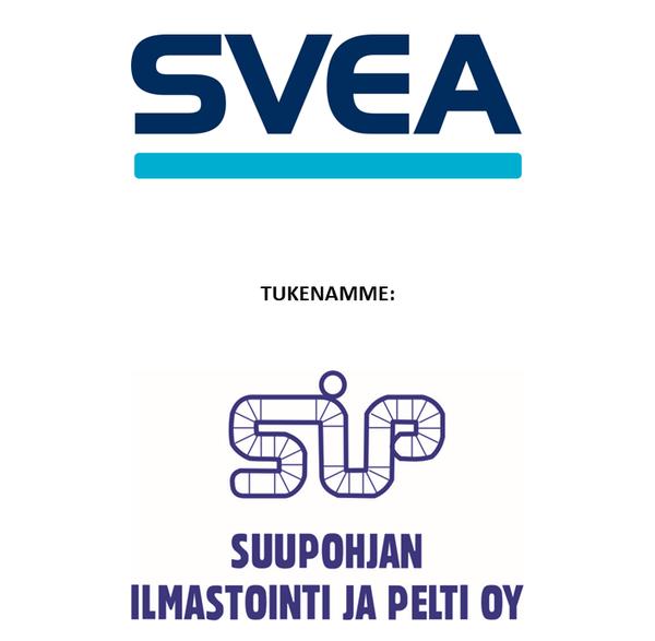 C1-joukkueen tukijoina SVEA Ekonomi ja Suupohjan Ilmastointi ja Pelti Oy