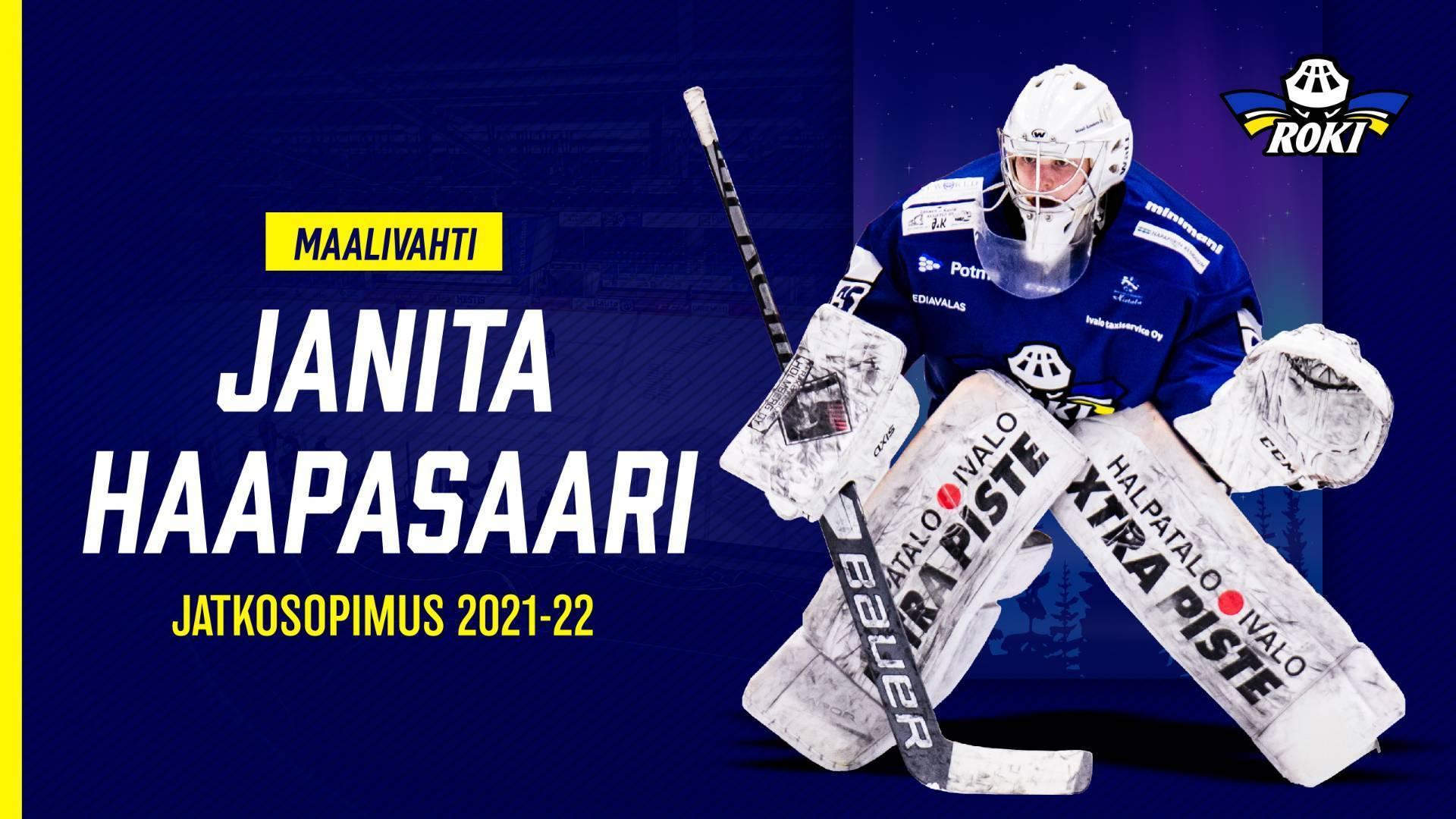 Maalivahti Janita Haapasaari jatkosopimukseen RoKin kanssa!