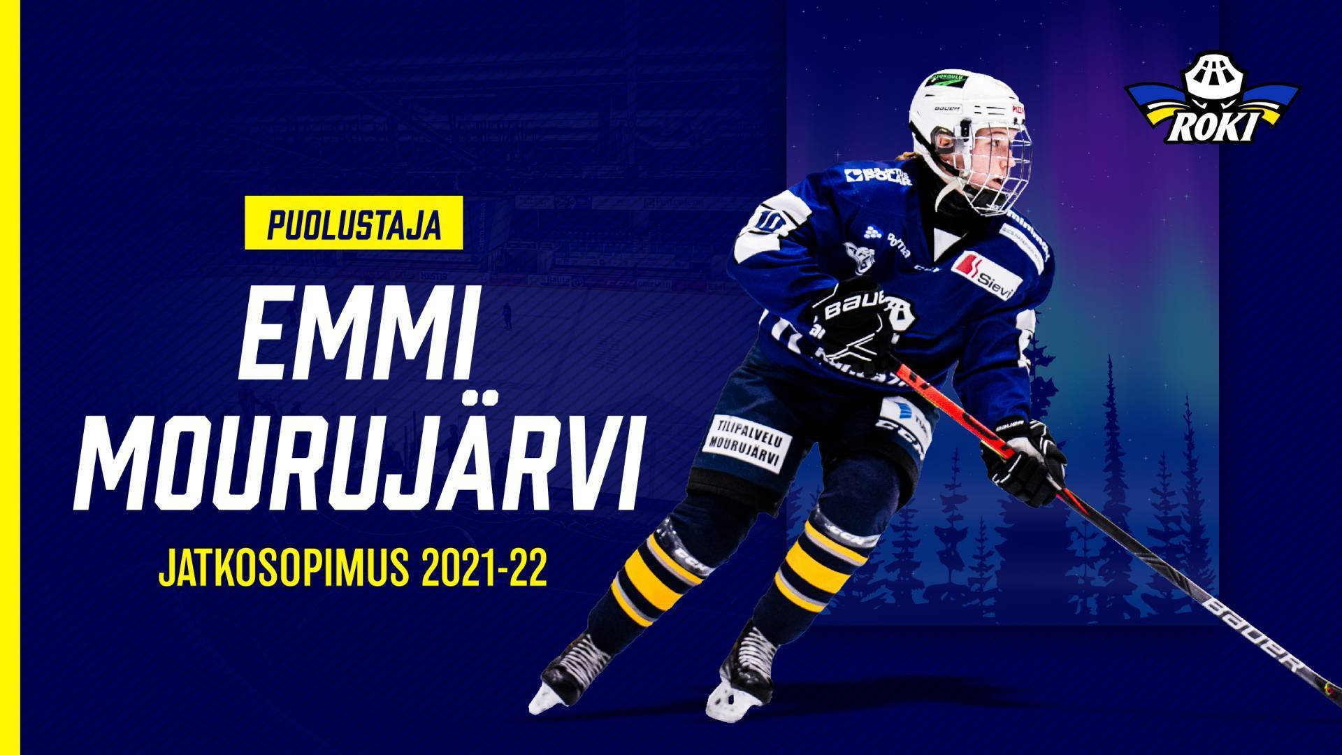 Emmi Mourujärvi jatkaa RoKin naisten liigajoukkueen puolustuksessa